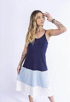Vestido Tricolor 3 Marias Up Side Wear Azul