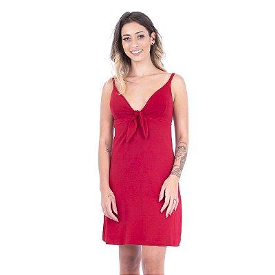 Vestido Decote Nó Vermelho