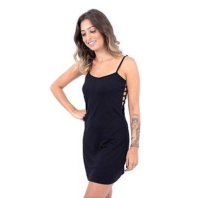 Vestido Recortes na Lateral Up Side Wear Preto