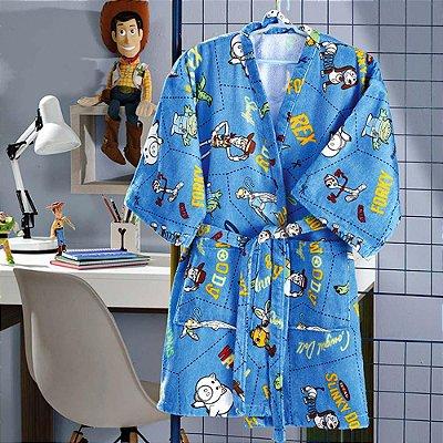 Roupão Infantil Grande Velour Toy Story 06 - Dohler