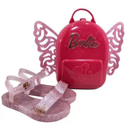 Sandália Aberta Infantil Grendene Kids Barbie Butterfly