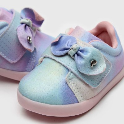 Tênis Infantil Feminino Pom Pom Comfy Malha Pet Tie Dye