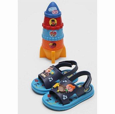 Sandália Mundo Bita Azul + Foguete Montável Grendene Kids