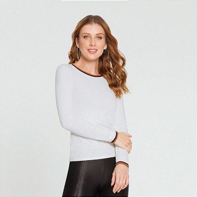 Blusa Malha Canelado Tracy Lunender