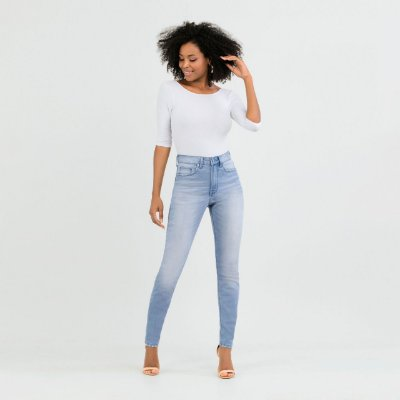 Calça Skinny Chapa Barriga Jeans Claro Lunender