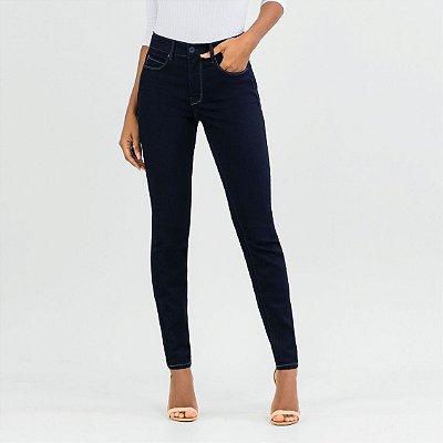 Calça Skinny Chapa Barriga Jeans Escuro Lunender
