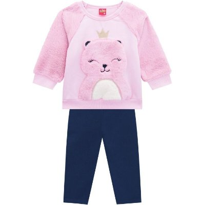 Conjunto Infantil Inverno Ursa Princesa 2 peças Kyly
