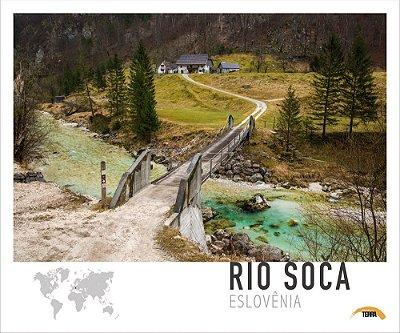 Pôster Rio Soca - Eslovênia - 70cm x 60cm
