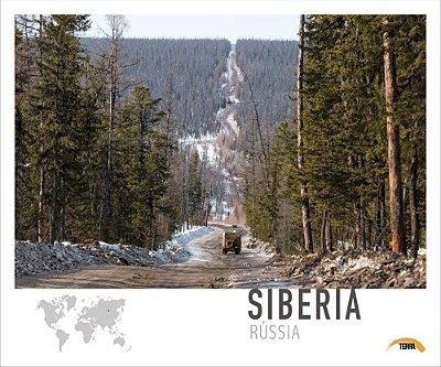 Pôster Sibéria - Rússia - 70cm x 60cm