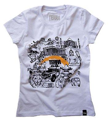Camiseta Mundo por Terra Branca Baby Look (feminino)