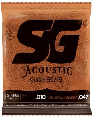 Encordoamento SG Strings Acoustic 85/15 - Light 010 - 047