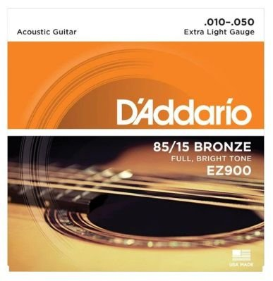Encordoamento D'Addario Aço EZ900 85/15 - Extra Light 010 - 050
