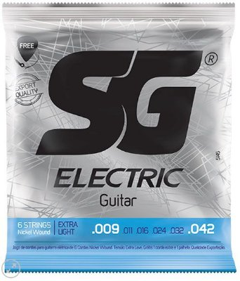 Encordoamento SG Strings Eletric Guitar Nickel Wound - Extra Light 009 - 042