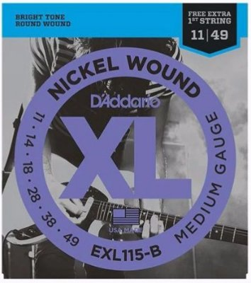 Encordoamento D'Addario Guitarra EXL115-B Nickel Wound - Medium 011 - 049
