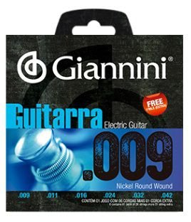 Encordoamento Giannini Eletric Guitar Nickel Wound - Light 009 - 042