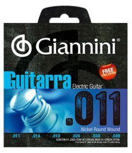 Encordoamento Giannini Eletric Guitar Nickel Wound - Heavy 011 - 049