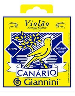 Encordoamento Giannini Canario Violão Aço - Tensão Média