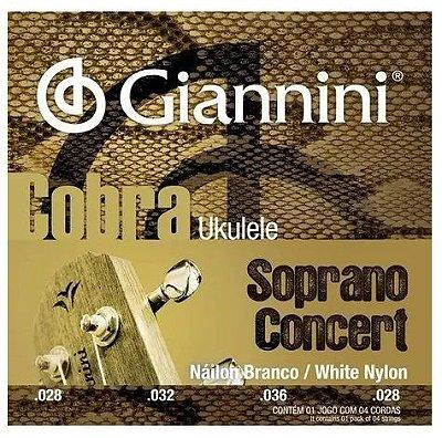 Encordoamento Giannini Cobra Ukulele Soprano/Concert