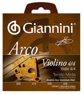 Encordoamento Giannini Arco Bowed Violino 4/4 - Tensão Média