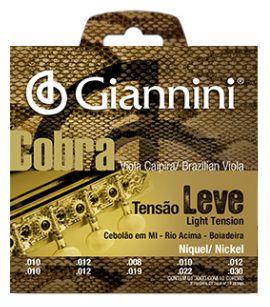 Encordoamento Giannini Cobra Viola Caipira Cebolão Mi - Tensão Leve
