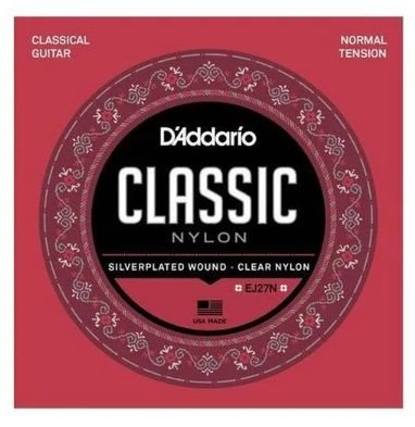 Encordoamento D'Addario Nylon Classical Tensão Média - EJ27N