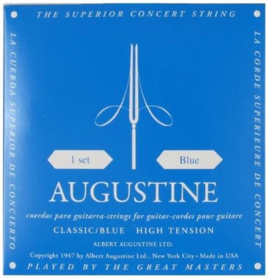 Encordoamento Violão Nylon Augustine Classic Blue - Tensão Alta