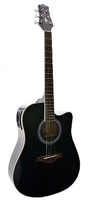 Violão Folk Aço PHX J.White AH-D01 BK - tampo maciço