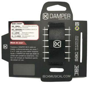 Damper / Abafador de Cordas IBOX Couro Preto - Médio