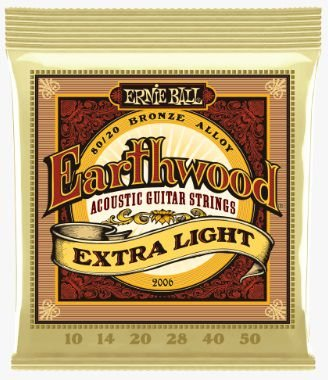 Encordoamento Ernie Ball Violão Aço Bronze 80/20 Extra Light - 010 - 050