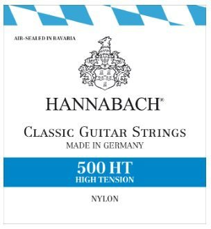 Encordoamento Violão Nylon Hannabach 500 HT - High Tension