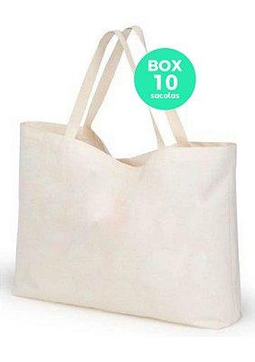 BOX com 10 sacolas 40 X 45 15CM