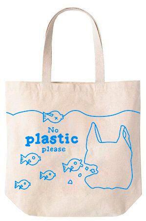 Not Plastic - Sacola de Algodão 30x35x10cm