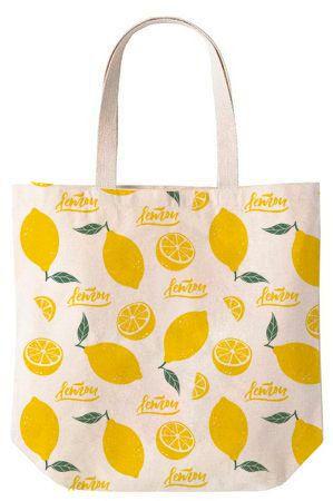 Lemon - Sacola de Algodão 30x35x10cm