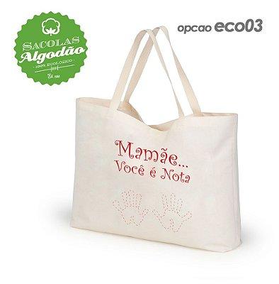 BOX com 10 sacolas - ECO 03- 40x45x15 cm - Feliz dias das Mães