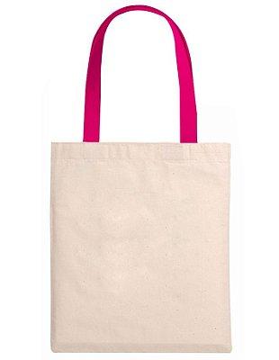 Sacola de Algodão 40x30cm - Alças Pink