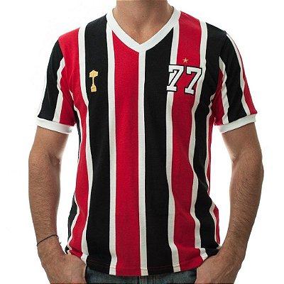 Camisa Retrô Tricolor Paulista 1977