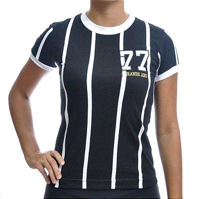Camisa Retrô Feminina Alvinegro SP 1977