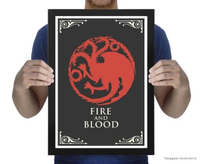Poster Game of Thrones House Targaryen