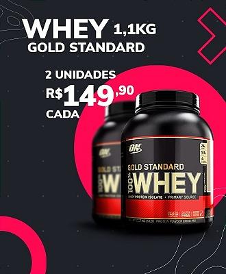 2un Whey Gold Standard 1,1kg