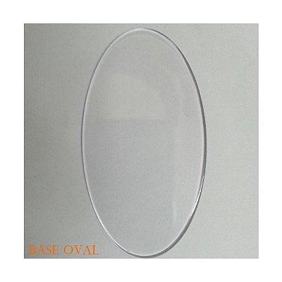 Base oval 8 x 4,5 cm na Cor transparente Caixa com 100 unidades