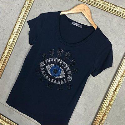 T-Shirt Olho Grego Cílios
