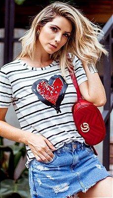T-Shirt Coração vermelho