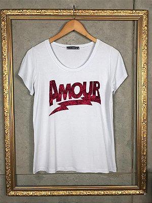 Camiseta T-Shirt Feminina Amour