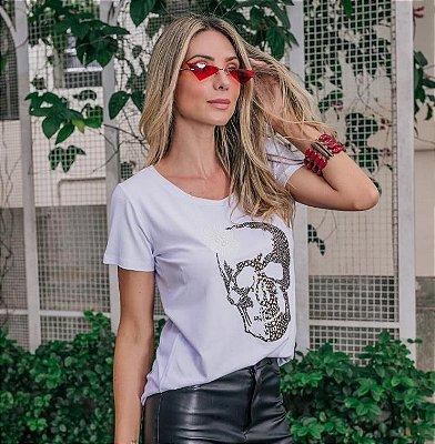 T-Shirt Caveira Flor