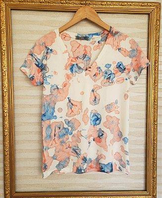 T-Shirt Tie Dye Decote V