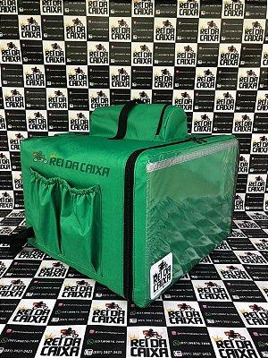 Mochila térmica 89 litros verde - comporta embalagem até 50cm de diâmetro