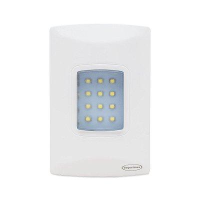 Luminária de Emergência 100 Lúmens de Embutir