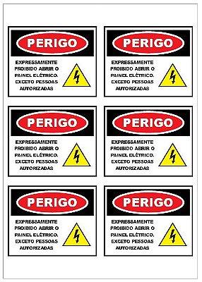 Adesivo Perigo Painel Elétrico