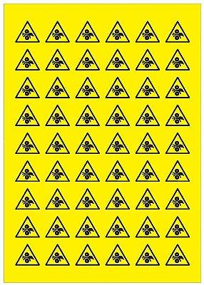 Adesivo de Risco de Esmagamento Engrenagem