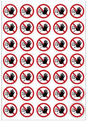 Adesivo de Sinalização de Proibido o Uso de Luvas